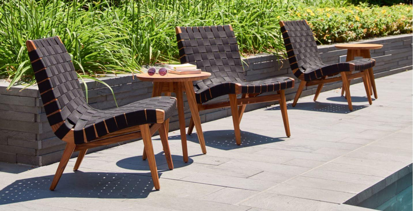 Magnificent Knoll Risom Outdoor Lounge Chair Clima Outdoor Machost Co Dining Chair Design Ideas Machostcouk